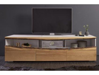 Designový TV stolek Barbara, bílý 01