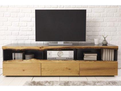 Designový TV stolek Barbara, šedý 01