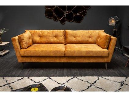 Luxusní pohovka Violet, žlutá 01