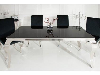 Barokní jídelní stůl Dylan, černý 200cm 01