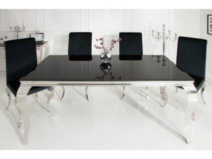 Barokní jídelní stůl Dylan, černý 180cm 01