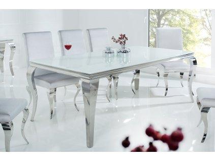 Barokní jídelní stůl Dylan, bílý 200cm 01