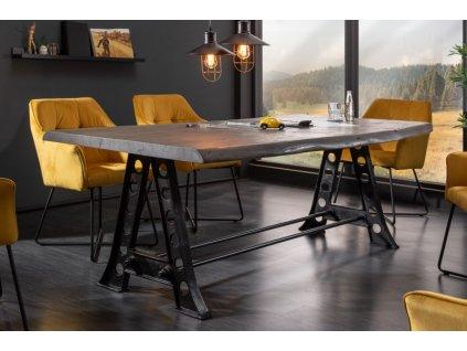 Luxusní jídelní stůl Stefan, šedý 220cm 01