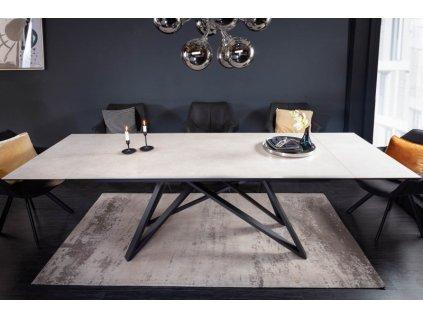 Rozkládací jídelní stůl Barry, beton 01