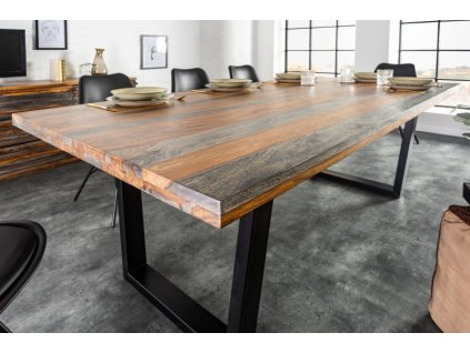 Masivní jídelní stůl Bartholomew, 200cm 01