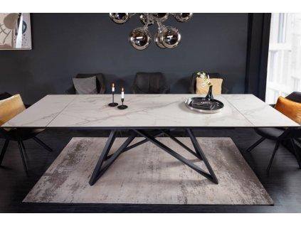 Rozkládací jídelní stůl Benedict, mramor velký 01