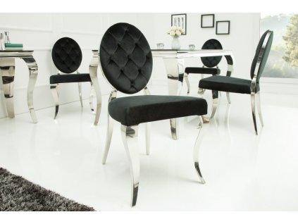 Barokní jídelní židle Anita, černá 01