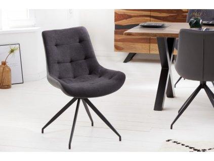 Jídelní židle Cerys, šedá 01