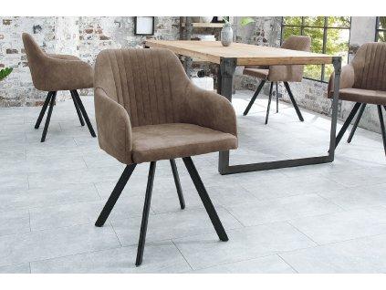 Jídelní židle Cari, šedá 01