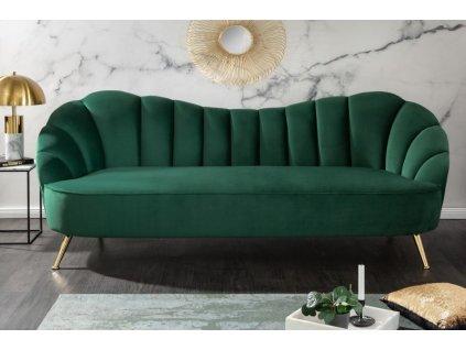 Designová pohovka Dana, zelená 01