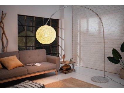 Luxusní stojací lampa Edith, bílá 01