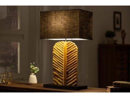 Designová stolní lampa Ellen, zlatá 01