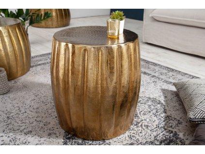 Luxusní konferenční stolek Carl, zlatý 01