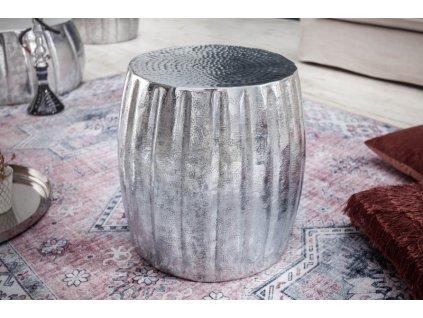 Luxusní konferenční stolek Carl, stříbrný 01