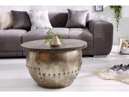 Designový konferenční stolek Caspar, šedý 01