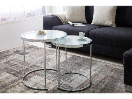 Luxusní konferenční stolek Cedric, bílý 01