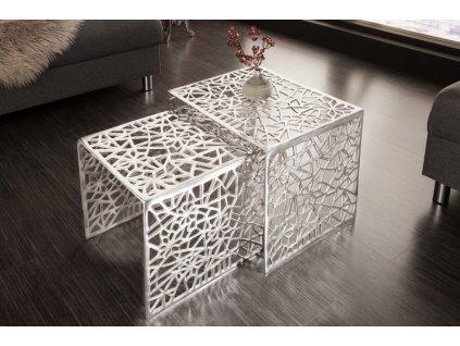 Designový konferenční stolek Cerith, stříbrný 01