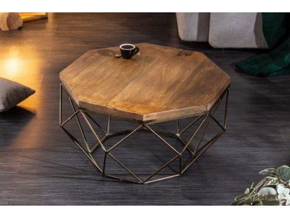 Designový konferenční stolek Conrad, hnědý 01