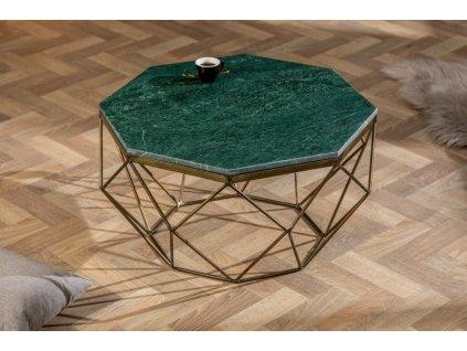 Designový konferenční stolek Conrad, zelený 01