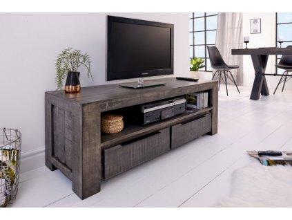 Masivní TV stolek Chris, šedý 01