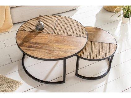 Luxusní konferenční stolek Daryl, přírodní 01