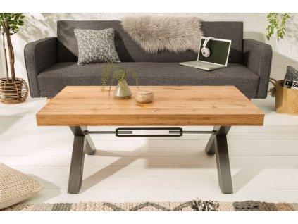 Masivní konferenční stolek Dennis, přírodní dub 02