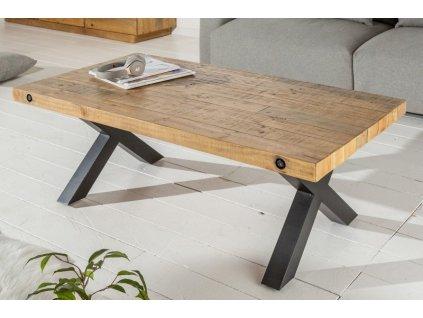 Masivní konferenční stolek Derek, přírodní 01