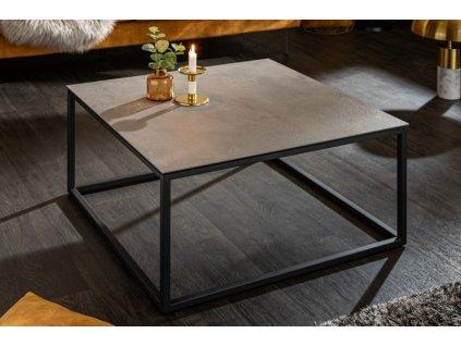 Designový konferenční stolek Deuce, betonový vzhled 01