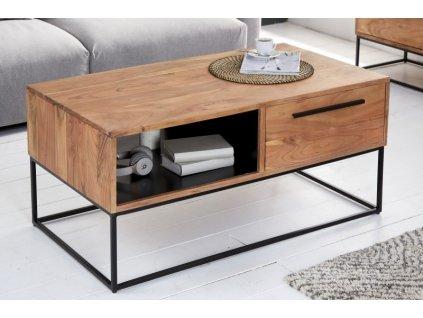 Masivní konferenční stolek Dominic, přírodní 01