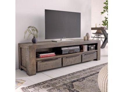 Masivní TV stolek Chris, šedý XL 01