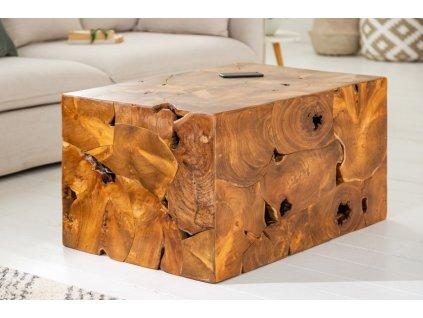 Masivní konferenční stolek Dougall, 90cm 01