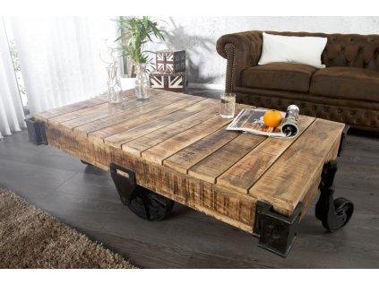 Masivní konferenční stolek Edmund, 120cm 01