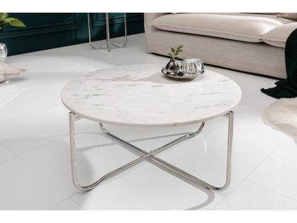 Luxusní konferenční stolek Evan, bílý 01