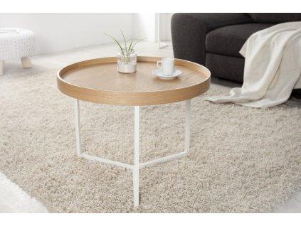 Designový konferenční stolek Fergus, přírodní 60cm 01