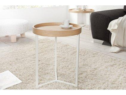 Designový konferenční stolek Fergus, přírodní 40cm 01