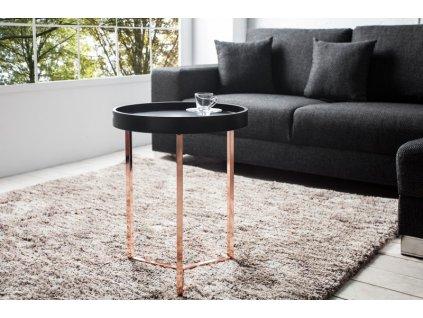 Designový konferenční stolek Fergus, černý 40cm 01