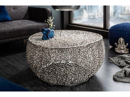 Designový konferenční stolek Frazer, stříbrný 01