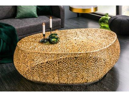 Designový konferenční stolek Freddie, zlatý 01
