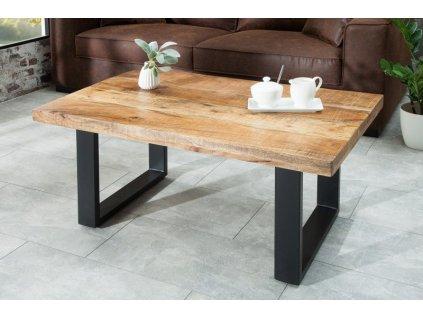 Luxusní konferenční stolek Gareth, mango 100cm 01