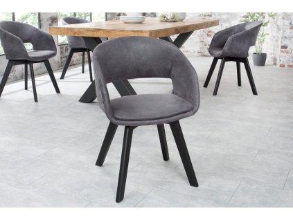 Jídelní židle Esme, šedá 01