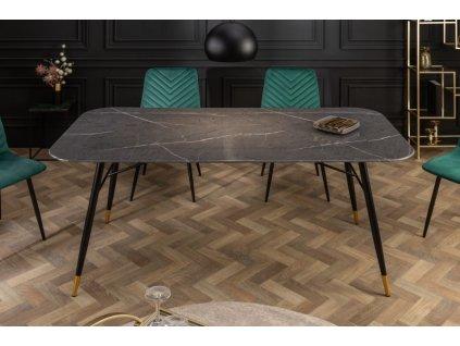 Luxusní jídelní stůl Giles, černý 01
