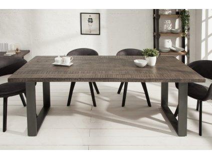 Luxusní jídelní stůl Zachary, šedý 160cm 01