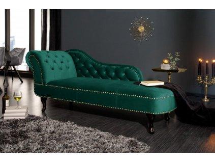 Designová pohovka Evie (Chesterfield), zelená 01