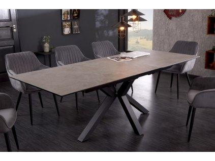 Rozkládací jídelní stůl Jeremy, beton 01