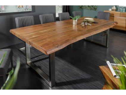 Masivní jídelní stůl Keiron, 220cm hnědý 01