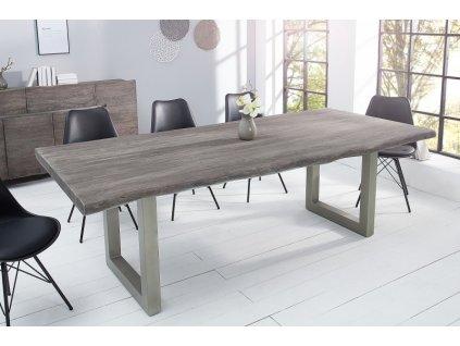 Masivní jídelní stůl Keiron, 220cm šedý 01