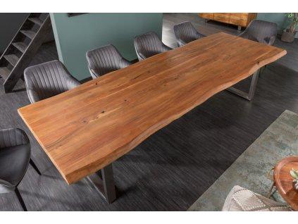 Masivní jídelní stůl Keiron, 300cm hnědý 01