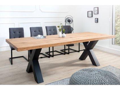 Masivní jídelní stůl Ken, 60mm 01