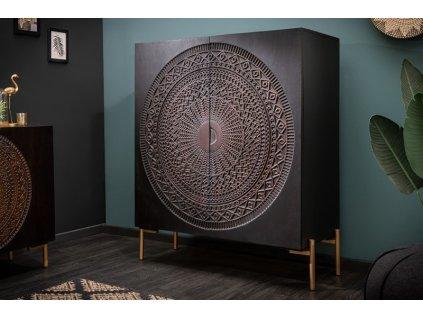 Luxusní komoda Poppy, 100cm černá 01