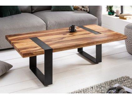 Luxusní konferenční stolek Leslie, hnědý 01